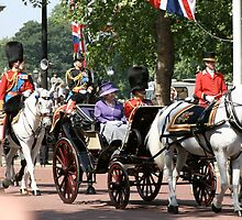 Her Majesty The Queen along with Prince Phillip by Keith Larby