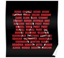 British GP Silverstone winners Poster