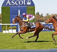 Anticipated  crossing the finish line at Ascot 1st may 2013 by Keith Larby