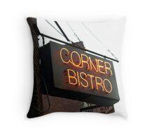 CORNER BISTRO Throw Pillow