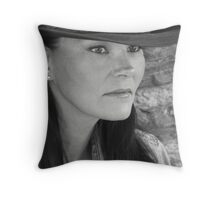 Bonnie In Black And White #3 Throw Pillow