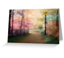 A Walk In The Park - Infrared Series Greeting Card