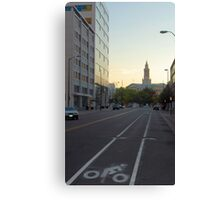 Cycle in Denver Canvas Print