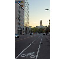 Cycle in Denver Photographic Print