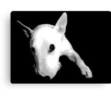 English Bull Terrier Dog, Black and White Pop Art Print Canvas Print