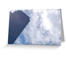 Airplane Clouds Greeting Card