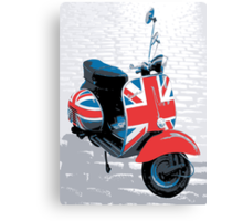 Vespa Scooter - Mod Decoration, Pop Art Print Canvas Print