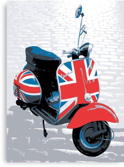 Vespa scooter mod decoration pop art print canvas for Vespa decoration