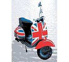 Vespa Scooter - Mod Decoration, Pop Art Print Photographic Print
