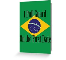 First Date BJJ (Black) Greeting Card