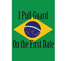 First Date BJJ (Black) Photographic Print