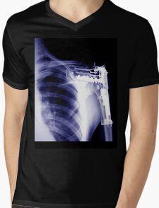 shoulder rectangle Mens V-Neck T-Shirt