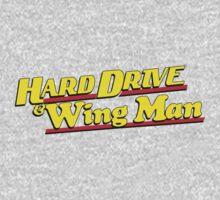 Hard Drive and Wing Man Kids Tee