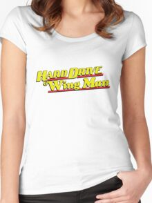 Hard Drive and Wing Man Women's Fitted Scoop T-Shirt