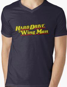 Hard Drive and Wing Man Mens V-Neck T-Shirt