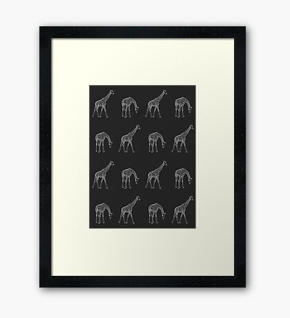 Giraffe Wallpaper Framed Print