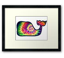 Vineyard Vines Whale Tie-Dye Framed Print