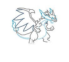 Mega Charizard X Vector Photographic Print