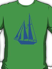 Blue sailing ship T-Shirt