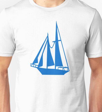 Blue sailing ship Unisex T-Shirt
