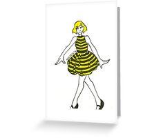 Bee Girl Greeting Card