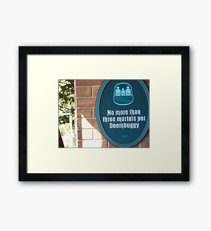Haunted Mansion- Magic Kingdom Framed Print