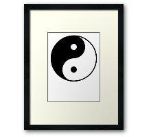 Asian Yin Yang Symbol Framed Print