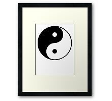 Asian Yin Yang Symbol Framed Print