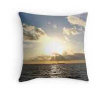 sunset in paradise Throw Pillow