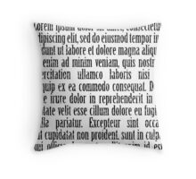 Black and White lorem ipsum Throw Pillow