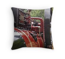 Marshall Steam Traction Engine Throw Pillow