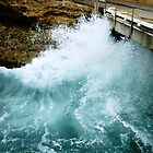 Ocean wave against the wall at Pt. Campbell Jetty, Vic. Australia by EdsMum