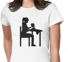 Sewing machine woman Womens Fitted T-Shirt