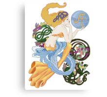 "Celtic ""A""for Aquarius  Mermaid Canvas Print"