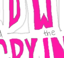 Hedwig and the Angry Inch (Pink Logo) Sticker