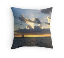 Boat on the Horizon Throw Pillow