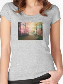 A Walk In The Park - Infrared Series Women's Fitted Scoop T-Shirt