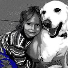 A boy and his dog by Dmarie Frankulin