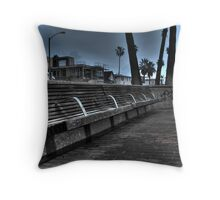 pacific bench Throw Pillow