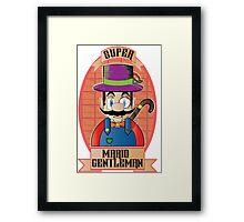 Mario - Gentleman Framed Print