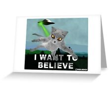 x-files cat Greeting Card