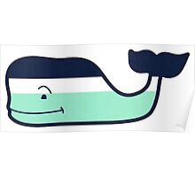 Vineyard Vines Nautical Stripe Whale Poster