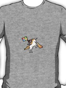 Ninja Cat Unicorn Full Flag T-Shirt