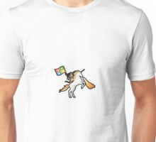 Ninja Cat Unicorn Full Flag Unisex T-Shirt