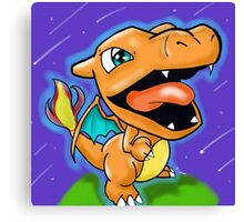 Chibi charizard Canvas Print