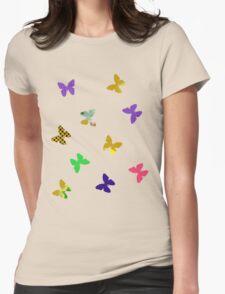 Ten butterflies on a light background T-Shirt