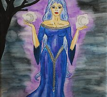 Triple Moon Goddess by Rowan  Lewgalon
