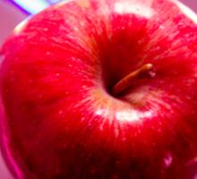 Futuristic red apple Sticker