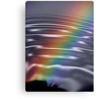 Rainbow Ripples Canvas Print