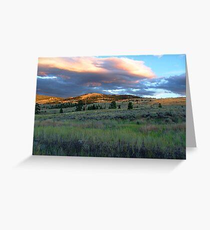 Evening Near Kamloops Greeting Card